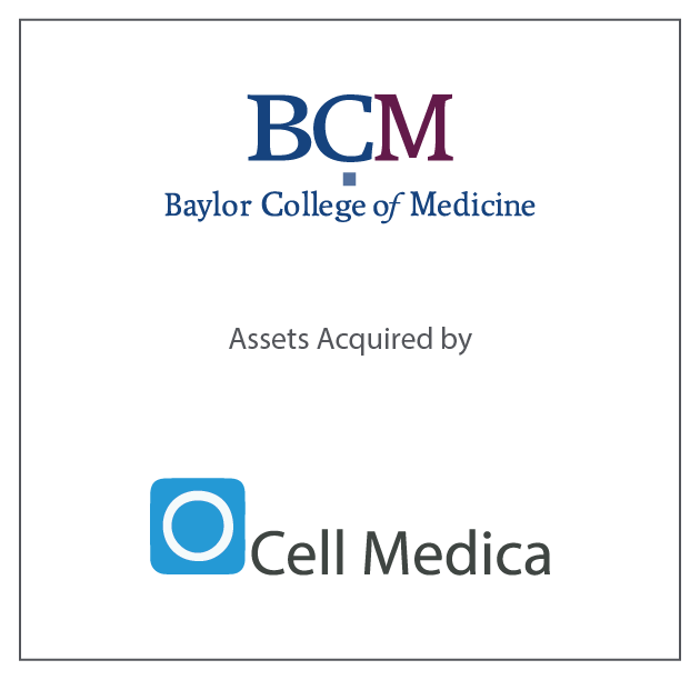 Baylor College of Medicine (BDC) assets acquired by Cell Medica June 17, 2016