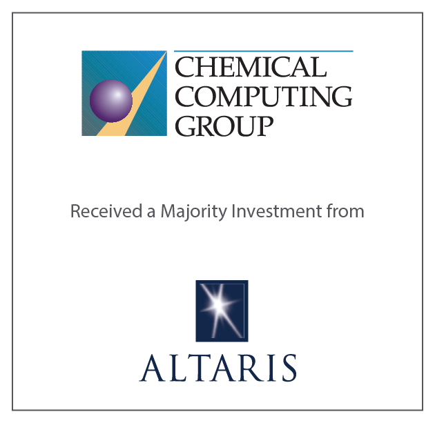 Chemical Computing Group Received a Majority Investment from Altaris June 8, 2017