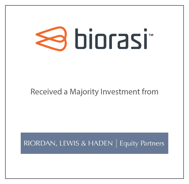Biorasi Received a Majority Investment from Riordan, Lewis & Haden Equity Partners November 16, 2018
