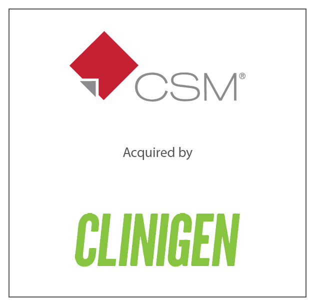 CSM (a portfolio company of Great Point Partners) has been acquired by Clinigen September 2018