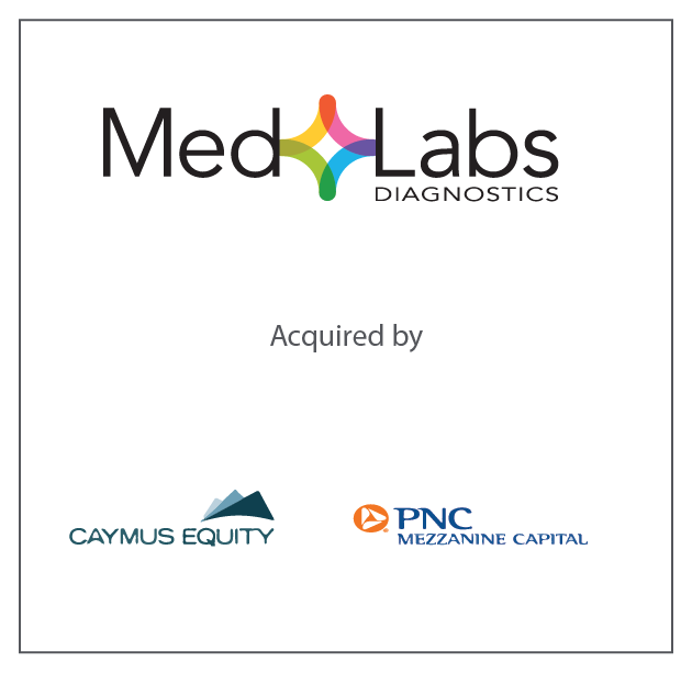 MedLabs Diagnostics Recapitalized by Caymus Equity and PNC Mezzanine Capital April 3, 2018
