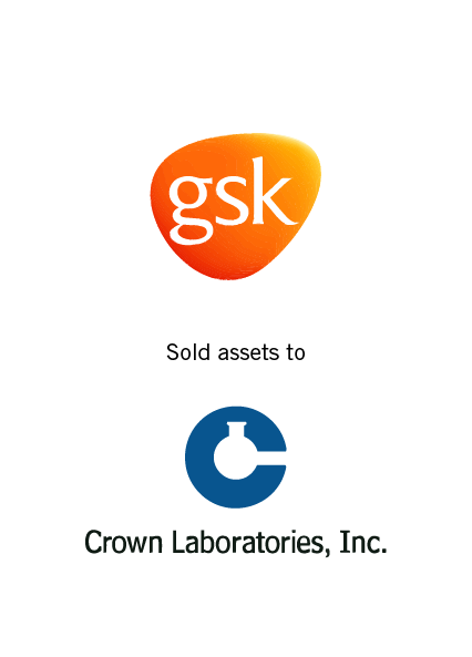 GSK Sold Assets to Crown Laboratories