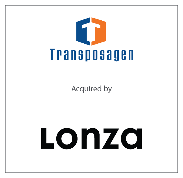 Transposagen Biopharmaceuticals, Inc. has been acquired by Lonza