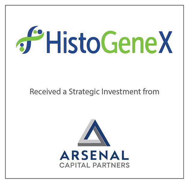 HistoGeneX combines with Caprion Biosciences via strategic investment from Arsenal Capital Partners