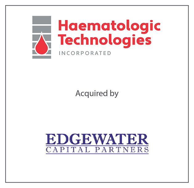 Haematologic Technologies, Inc. was acquired by Edgewater Capital Partners