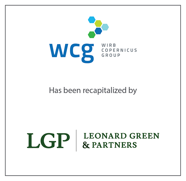 "WIRB-Copernicus Group (""WCG"") recapitalizes, led by Leonard Green & Partners, L.P."