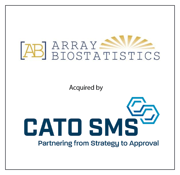 Array Biostatistics was acquired by CATO SMS